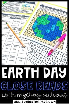 Celebrate Earth Day in your upper elementary classroom with these engaging, high interest reading comprehension passages that teaches the history of the holiday!  These close reading passages will make your students WANT to read!  Great for 3rd, 4th,5th & 6th grade levels-this resource includes 3 passages differentiated to 3 different levels including fiction and nonfiction as well as text dependent questions, graphic organizer and mystery pictures! #closereadingstrategies