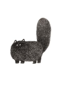 The Furry Thing Series Kitty No.2 A4 by boandfriends on Etsy
