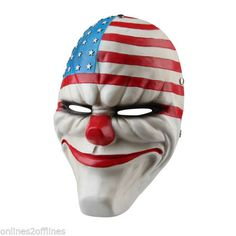 Floureon Halloween Cosplay Mask Payday 2 Dallas Clover Chains Wolf Replica Resin Mask Dallas) ** Quickly view this special product, click the image : Halloween costumes Cosplay Costumes For Men, Halloween Cosplay, Halloween Costumes, Joker Clown, Clown Mask, Halloween Masquerade, Halloween Carnival, Halloween Party, Payday 2 Masks