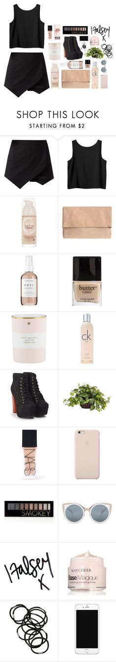 """highway to hell"" by tropicalbliss-magazine ❤ liked on Polyvore featuring Monki, Maybelline, Herbivore, Butter London, Kate Spade, Calvin Klein, Jeffrey Campbell, Nearly Natural, NARS Cosmetics and Black Apple"