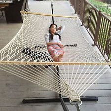 New Swing Outdoor Cotton Rope Double Hammock Bed Capacity Swing Lounge Hammock Swing Chair, Swinging Chair, Double Hammock, Ways To Relax, Cotton Rope, Garden Supplies, Lawn And Garden, Outdoor Furniture, Outdoor Decor