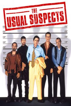 "Movie Poster for the terrific movie, ""The Usual Suspects""  (1995)...   With Kevin Spacey as the unusual suspect!"