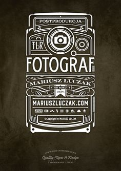 Fotograf Logo | Typography by Tomasz Biernat, via Behance