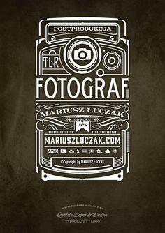 Fotograf Logo | Typography by Tomasz Biernat, via Behance