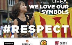 Crida per plantar cara a la UEFA amb estelades en l'amistós Catalunya-Euskadi - mon.cat, 23 de Desembre 2015