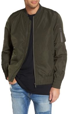 Topman Men's Elton Bomber Jacket