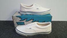 1a8828cf73 Details about Vintage Vans shoes AUTHENTIC Blue made USA Mens Size 7 NOS  SK8 Hi Skool BMX