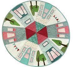 Kit Quilt My Round Neighborhood. Patrón de patchwork diseñado por Mi Casita de Patch.