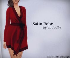 Satin Robe (Loubelle) at Elliesimple via Sims 4 Updates