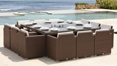 Skyline Design, Pacific 12 Seater Dining Set, Buy Online at LuxDeco