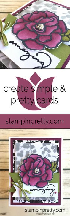 Beautiful Day Stamp Set Colored with Stampin' Blends from the 2018 Occasions Catalog, Card Created by Mary Fish, Stampin' Pretty #maryfish #stampinpretty