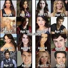 Their real ages!!WOAH