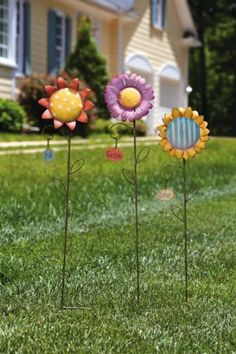 Grow in Grace Flower Garden Stakes,Metal ,8.5x36 Inches,Assorted 3 by Ashley. $59.99. Save 33%!