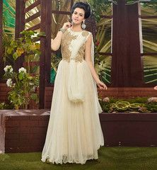 BUY LATEST FASHION INDO WESTERN LOOK PARTY WEAR INDIAN STYLE GOWN. MAXI DRESS INDIA VDSYA1013
