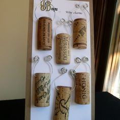 These wine cork wine charms can be used on wine, champagne, martini, beer or any stem or handle you like. Each charm has a different wine logo so you