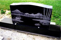 headstone designs for couple | CL017 India Black Granite