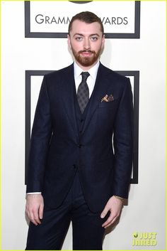 Sam Smith Gives Two Big Thumbs Up at the Grammys 2016!: Photo #929647. Sam Smith puts on his finest for the red carpet at the 2016 Grammy Awards held at the Staples Center on Monday (February 15) in Los Angeles.    The 23-year-old entertainer's…