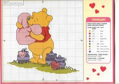 Winnie the Pooh...variety of Pooh theme charts/color charts...you can pick and choose what you like best on this site...NOT in English