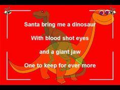 ▶ Santa bring me a dinosaur-Funny Christmas song by Bob Brown ( Little guys ) Funny Christmas Songs, Xmas Songs, Christmas Tunes, Christmas Arts And Crafts, Christmas Concert, Christmas Shows, Christmas Humor, Kids Christmas, Music Education Games