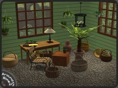Around the Sims 2 | Objects | Outdoor | Old Green Patio