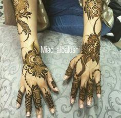 نقش حنا Arabian Mehndi Design, Khafif Mehndi Design, Stylish Mehndi Designs, Mehndi Design Pictures, Beautiful Henna Designs, Best Mehndi Designs, Mehndi Images, Finger Henna Designs, Arabic Henna Designs