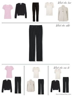 adding black corduroy pants to a capsule wardrobe