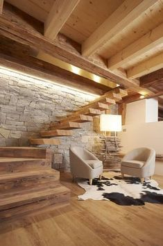 Wohnzimmer Inspiration - Wohnzimmer Inspiration - Best Picture For interior Stairs For Your Taste You are looking for something, Style At Home, Interior Design Living Room, Living Room Designs, Chalet Interior, Design Interiors, Interior Stairs, Interior Design And Construction, Staircase Design, Cabin Homes