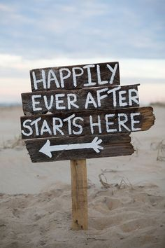 Happily Ever After Starts Here - Creative Wedding Signs and Sayings to Delight Your Guests - EverAfterGuide