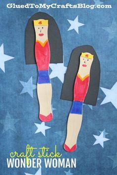 Craft Stick Wonder Woman - Kid Craft Idea