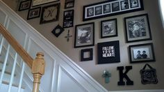 Giant Spoon And Fork Wall Decor Target 99144 wall decor.Vanity Wall Decor wake up cheer slay repeat wall decor.Wake Up Cheer Slay Repeat Wall Decor. Wainscoting Stairs, Dining Room Wainscoting, Stair Walls, Black Wainscoting, Wainscoting Ideas, Bedroom Wall Decor Above Bed, Home Wall Decor, Metal Wall Decor, Diy Wall