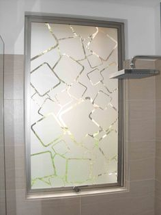 Frosted Glass Design, Frosted Glass Door, Glass Front Door, Glass Doors, Front Doors, Mirror Panel Wall, Glass Wardrobe, Glass Bathroom, Bathroom Windows