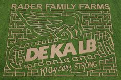 Corn Maze near Bloomington-Normal, Illinois, on Rader Family Farms 2012