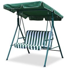 World Pride 2 Seater Green Outdoor Patio Garden Swing Cushioned Canopy Furniture Hammock * Click on  sc 1 st  Pinterest & 75x52 Ivory Swing Canopy Replacement Porch Top Cover Park Seat ...