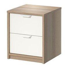 IKEA - ASKVOLL, Kommode mit 2 Schubladen, , Leichtgängige Schubladen mit Ausziehsperre.