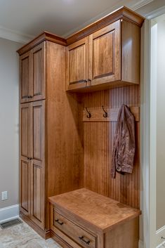 The Birchwood house plan 1239 built by Buchanan Construction! Mudroom Laundry Room, Built Ins, Home Projects, Home Remodeling, House Plans, New Homes, House Design, Interior Design, Home Decor