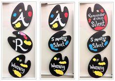 art room ART Flip sign: When a class has trou - art Art Classroom Posters, Art Classroom Decor, Art Room Posters, Art Classroom Management, Behavior Management, Classroom Ideas, Classroom Organization, Class Management, Classroom Discipline