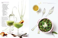 Spring Bean & Charred Asparagus Salad w White Balsamic Vinaigrette Food Magazine Layout, Magazine Design, Spring Bean, Love Food, A Food, White Balsamic Vinaigrette, Restaurant Poster, Design Editorial, Los Angeles Food