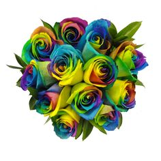 Rainbow Roses - great for Mother's Day