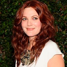 Drew Barrymore red hair colour
