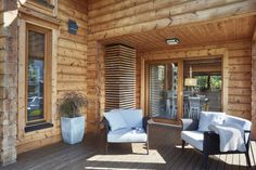Dom z Finlandii Tiny House, Building A House, Patio, Outdoor Decor, Modern, Home Decor, Camping, Balcony, Projects
