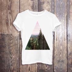 TREND T Shirt Top High Fashion T Shirt, Forest T Shirt Women Designer T Shirts White T-Shirt Tee Shirt for Women