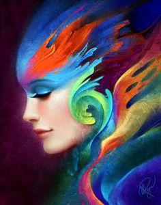 de - Pop Art etc - Painting Boy Art And Illustration, Color Splash, Inspiration Art, World Of Color, Face Art, Oeuvre D'art, Rainbow Colors, Amazing Art, Pop Art