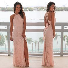 NO WAY! This lace maxi dress is finally back on our site! Shop at savedbythedress.com