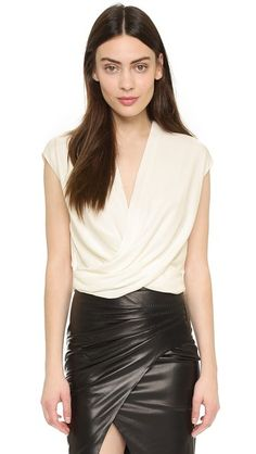 L'AGENCE Lee Cropped Blouse