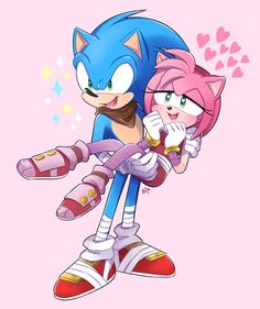 Boom sonamy is cuter to me than main sonamy. I don't know why....maybe because Amy isn't crazy about it. In boom the two like each other but keep it a secret. In main Sonic series I feel like the love is so one sided and that's why Sonic runs off from her. But boom made a version of sonamy I actually like.