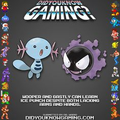 Armless Pokemon can learn Ice Punch? Gaming Facts, Gaming Memes, Pokemon Firered, Pokemon Memes, Video Game Facts, Video Games, Weird But True, Original Pokemon, Catch Em All