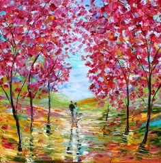 Spring Romance Landscape by Karen Tarlton