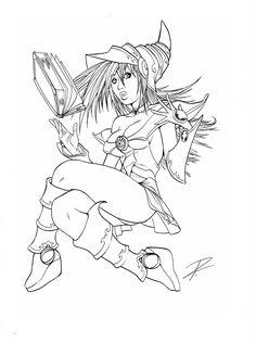 Dark Magician Girl - Yu Gi Oh ( © Kazuki Takahashi)