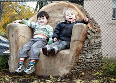 Love this log chair!!!
