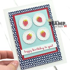 Hi friends! I have a super cute card toshare with you today that I created with the new Fruit Basket Stamp Set and Punch Bundle. Iabs...